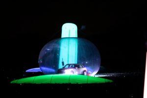 Night golf car bubble at charleston sc