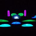 Night golf driving range targets