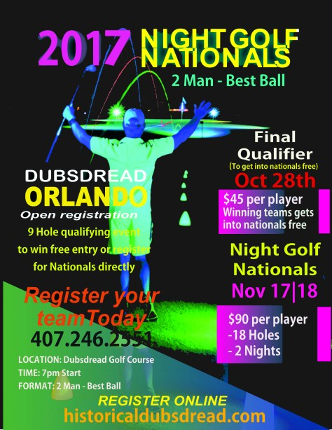 nationals of night golf and cosmic driving range