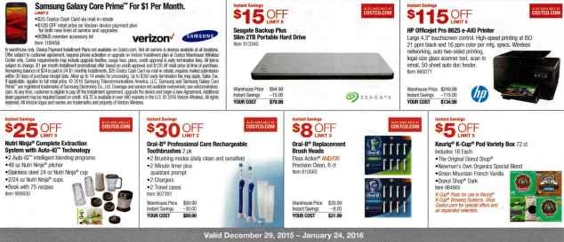 January 2016 Costco Coupon Book Page 3