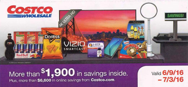 June 2016 Costco Coupon Book Cover