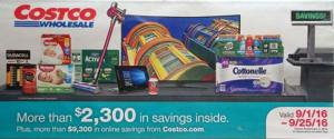 Costco September 2016 Coupon Book Cover