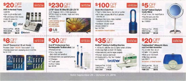 October 2016 Costco Coupon Book Page 3