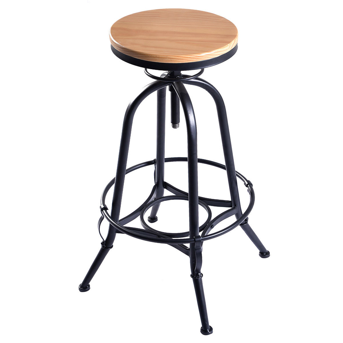 Awesome Adjustable Swivel Industrial Metal Design Vintage Bar Stool Table Barstools Chairs Furniture Adjustable Swivel Industrial Metal Design Vintage Bar Stool Table houzz-03 Wood Bar Stools