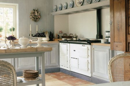 4 oven white aga cooker cosy kitchen