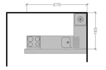 267495 8 plans de cuisine avec disposition des meubles en l