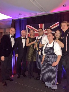 Winner Abhijeet Dasalkar with team and, from left, Eden MD Mark Chambers, Owner Sir Peter Rigby and GM at The Arden, Josefine Blomqvist.