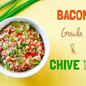 Bacon Gouda Chive Dip with Secret SUPERFOOD Ingredient!