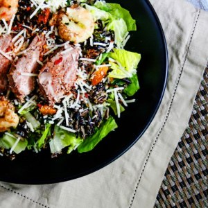 Spicy Surf and Turf Caesar Salad Recipe Plus Health Benefits of Cooking with Curry During Winter