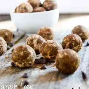 Grain Free Dark Chocolate Reese's Protein Bites Recipe – Superfood Snacking