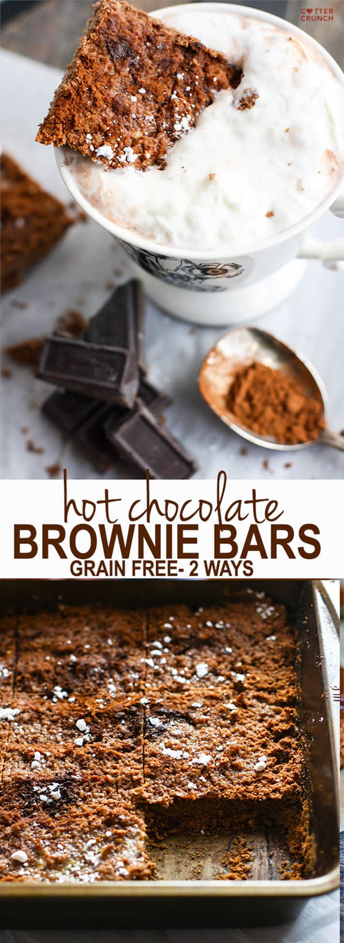 Grain Free Hot Chocolate Brownies! Basically hot cocoa in ...