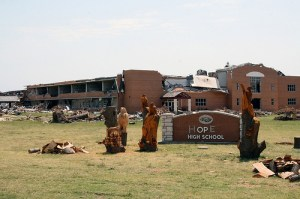 Joplin High School after the 2011 tornado
