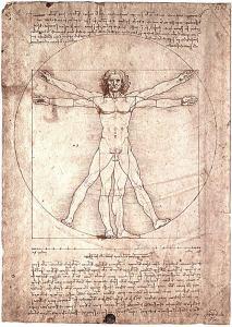 DaVinci's Vitruvian Man. Photo Credit: absoluteSteven / flickr