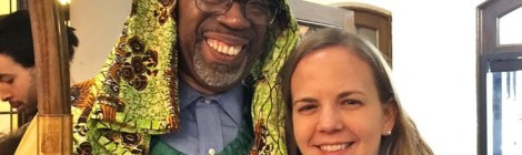 Bishop Alfred Johnson and Katie Reimer