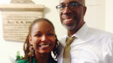 Elyse Minson and Bishop Alfred Johnson