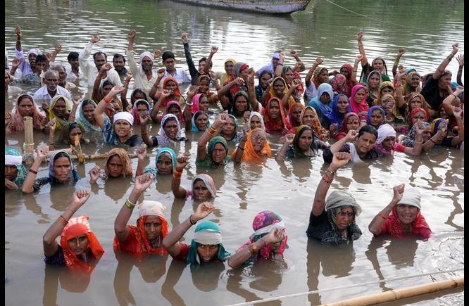 narmada valley protest