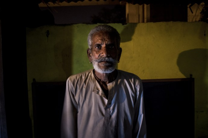 Mukundilal Chauhan (62), is one of the eldest members of the settlement. He is the one who is leading the fight for his community's rights on various platforms.