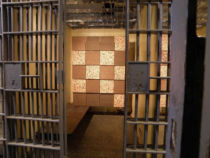 Unfinished Portrait: Iraq, Afghanistan, Pakistan, 2013, 555 gallery jail cells, Detroit, Michigan.