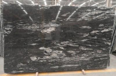 black cosmic granite slab