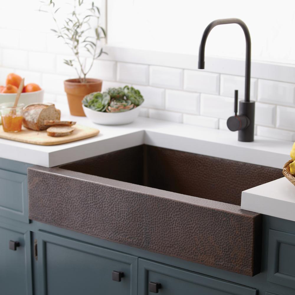 ... CPS291 Paragon Copper Apron Front Kitchen Sink V