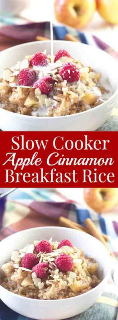 Slow Cooker Apple Cinnamon Breakfast Rice- a great way to start off ...