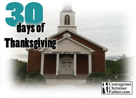 30 Days of Thanksgiving: Piedmont Baptist Church