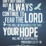 Proverbs 23:17-18