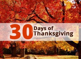 30 Days of Thanksgiving: Day 10