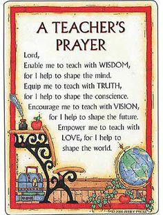Teacher's Prayer