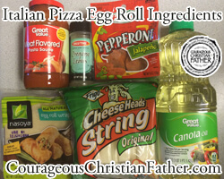 Italian Pizza Egg Roll Ingredients