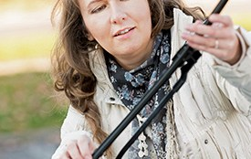 Woman Changing Her Wiper Blades