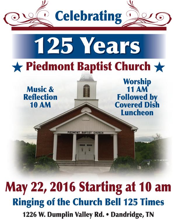 Piedmont Baptist Celebrates 125th Anniversary