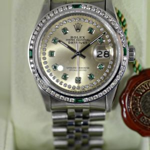 Rolex Datejust Smaragd Diamant