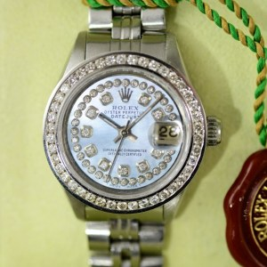 Rolex Ladies Datejust mit Diamant Lünette