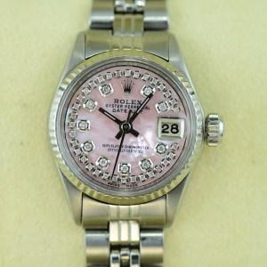Rolex Lady Datejust in Edelstahl und Rosé Zifferblatt