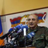 Nagorno-Karabakh -- Bako Sahakian, the President of breakaway Nagorno-Karabakh region speaks during a news briefing in Stepanakert, April 7, 2016