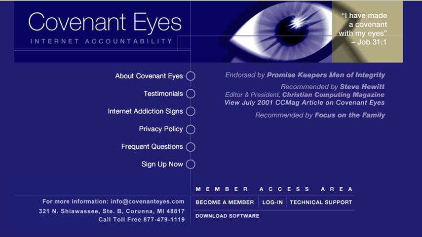 Covenant Eyes Website Mar 2002