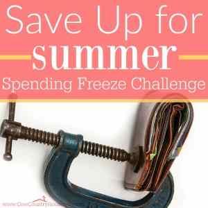 Save Up for Summer Spending Freeze Challenge