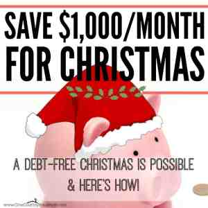 Save $1,000 a Month Starting Now