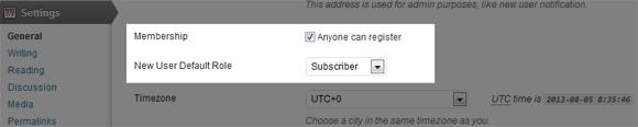 Enable WordPress User Registration
