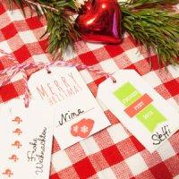 Adventskalender Türchen Nr. 20: Geschenkanhänger zum Ausdrucken mit individuellen Namensschildern
