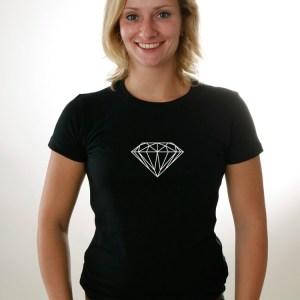 Girlie-Shirt Diamant in weiß