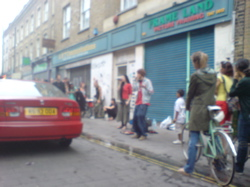 Busking on Brick Lane