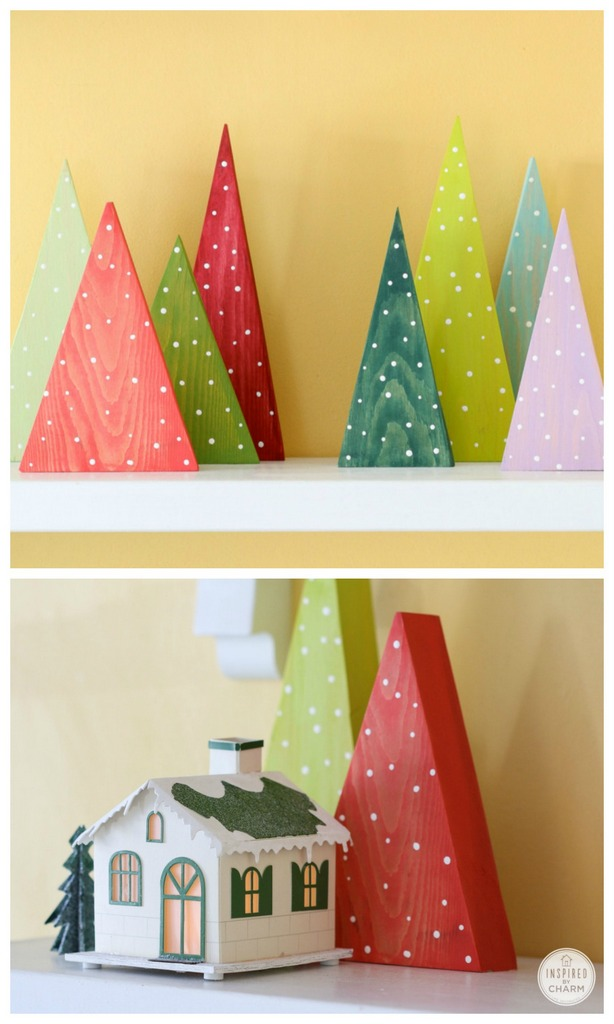 Diy modern christmas trees holiday crafts craftionary for Diy modern christmas decorations