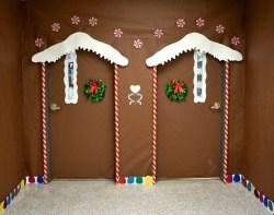 Smart Twin Ginger Bread House Door Craftionary Door Decorating Ideas Snowman Door Decorating Ideas Snow Globe