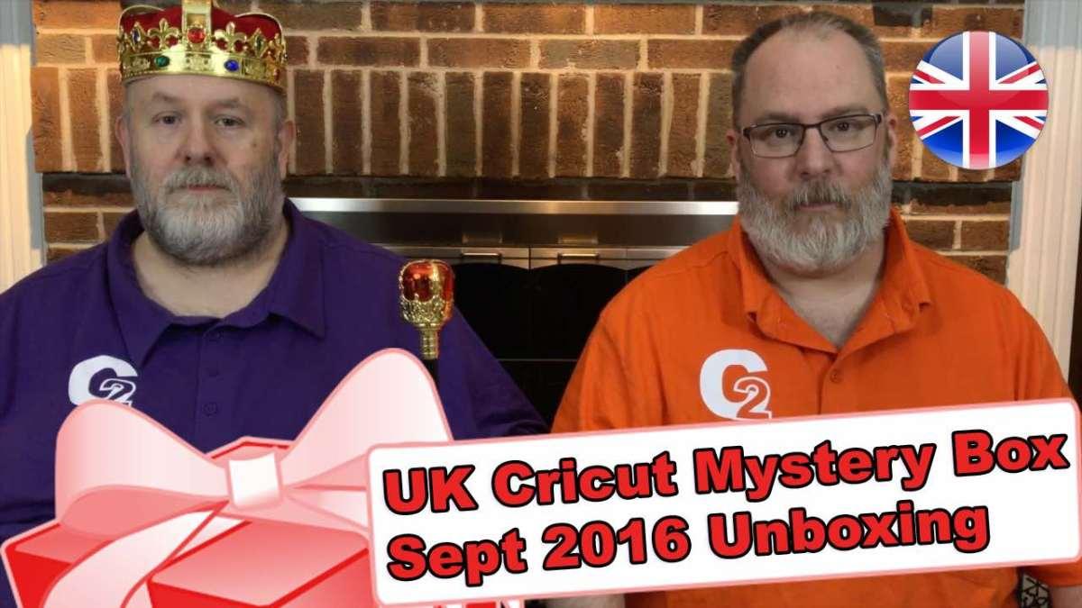 United Kingdom's Cricut Mystery Box - September 2016 Unboxing