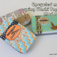 How-To: Recycled Mint Tins with Washi Tape and Mod Podge