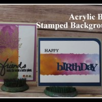 Acrylic Block Stamped Backgrounds