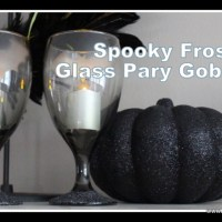 Review it & DO IT! Spooky Goblets using Krylon Frosted Glass Effect