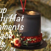 Frosty Hat Ornaments using Recycled K-Cups